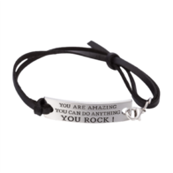 """You Are Amazing, You Can Do Anything, You Rock"" Bracelet"