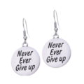"""Never Ever Give Up"" Earrings"